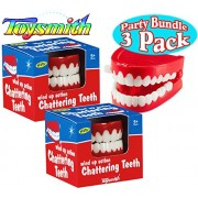 Toysmith Wind Up Chattering Teeth Party Set Bundle 3 Pack
