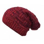 Knitted Slouchy Beanie Woolen Winter Cap for Men Women(Red)