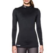 Damesmock Under Armour ColdGear Compressie Shirt dames (Zwart)
