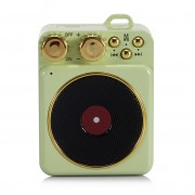T10 Retro Mini Wireless Bluetooth Speaker Portable Music Player TF Card Slot FM Radio - Green