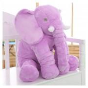 Eh Peluche De Elefante Almohada 28x33cm--Púrpura