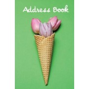 Address Book.: (Flower Edition Vol. E87) Pink Tulip in Cone Design. Glossy Cover, Large Print, Font, 6 X 9 for Contacts, Addresses, P