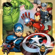 Puzzle Ravensburger - Marvel Avengers, 3x49 piese (08040)