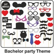 CREW4 PHOTO BOOTH PARTY PROPS BACHELOR PARTY THEME SET OF 36