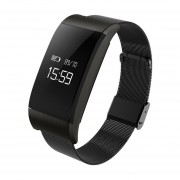 A66 Impermeable Fitness Smartband Tracker Frecuencia Cardiaca Presión Arterial Podómetro Negro