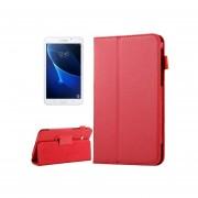 Para Samsung Galaxy Tab 7.0 Grados / T280 Litchi Texture Magnetico Flip Funda De Ecocuero Con Soporte Horizontal (rojo)