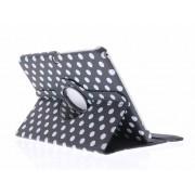 Zwarte 360° draaibare tablethoes polka dot voor de Samsung Galaxy Tab 3 10.1