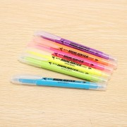 Genvana 6 Color Per Box Fluorescent Pen Double Ended Marker Highlighter