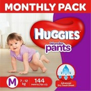 Huggies Wonder Pants Diaper - M (144 Pieces)