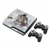 PS3 Slim Vinyl Skin EstampasPara PlayStation 3 Slim y Para 2 Controles ( Assassin´s Creed )