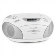 Auna RCD 220 Boombox CD USB Kassettendeck PLL-UKW-Radio MP3 weiß