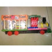 Fa vonat, állatos szállítóval