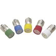 Lampa cu led T10 E10 multi, 2 cipuri, rosu, 12 V DC/AC, lungime de unda 620 - 630 nm