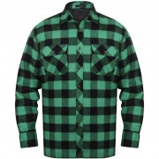 vidaXL Bélelt kockás férfi ing méret L zöld-fekete