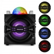 DisGo Box 65 Party-Lautsprecher Akku Bluetooth USB MP3 UKW LED-Lichteffekt