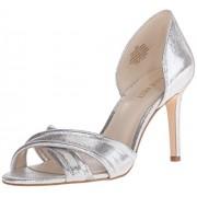 Nine West Women's Silver Fashion Sandals - 5 UK/India (37.5 EU)(7 US)