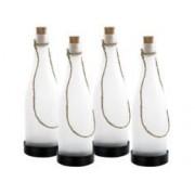 Lunartec 4 bouteilles à LED solaires - blanc chaud
