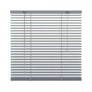 Horizontale jaloezie aluminium 25 mm - zilver - 180x250 cm - Leen Bakker