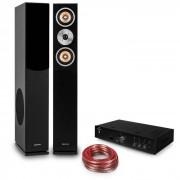 "Auna Hifi Set ""Brilliant Black"" - altavoz de pie - amplificador HiFi - cable (PL-28424-8979-6396)"