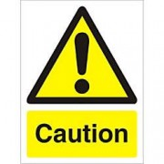Unbranded Warning Sign Caution Vinyl 40 x 30 cm
