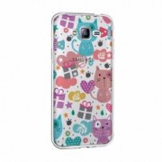 Husa Silicon Transparent Slim Lovely Cat Samsung Galaxy A5
