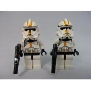 LEGO Star Wars Yellow Episode 3 Clone Trooper Lot X2 Minifigures