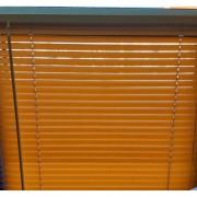 Jaluzea orizontala material PVC, culoare maro, imitatie lemn,deschis, L 75cm xH 110 cm