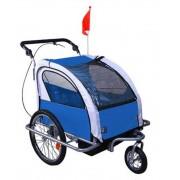 Aosom Remolque Bicicleta Gris Y Azul Aosom 18m+
