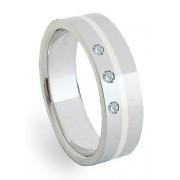 Ocelový prsten se stříbrem ZAG06450