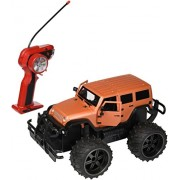 Jeep Wrangler Cross Country 1:14 Scale Battery Operated Remote Controlled 4WD 2.4 GHz Toy RC Truck w/ Remote Control,& Door Opening Action