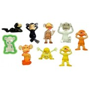 Monkey See, Monkey Do 2 Inch Figurines Set Of 8 Funny Monkeys