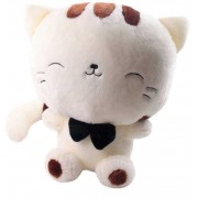 Cute 15 Inch White and Brown Kitty Cat Soft Toy
