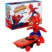 SHRIBOSSJI Spiderman Electronic Stunt Scooter Skateboard 360 Rotation With Sound for kids with best quality(multicolor)