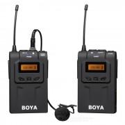 BOYA BY-WM6 sistema inalambrico de microfono lavalier - negro