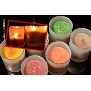 kaarsen: Winterkaarsen in glas, 6 stuks - Kerst
