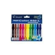 Caneta Hidrográfica 12 Cores Tinta Lavável Color 850-L Junior Pilot