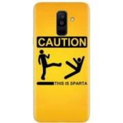 Husa silicon pentru Samsung Galaxy J8 2018 This Is Sparta Funny Illustration