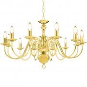 vidaXL Luster, zlatý 12 x žiarovky E14