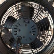Breeze table fan, Ø 20 cm, black/walnut