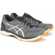 Asics GT-2000 5 Running Shoes For Men(Black, Grey)