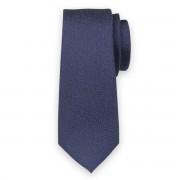 Keskeny nyakkendő sötétkék színben sárga mintával 11131