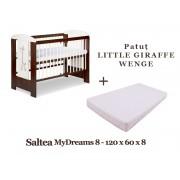 Patut KLUPS Little Giraffe Wenge + Saltea MyDreams 8