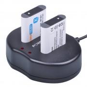 2 Stks 1600 mAh NP-BX1 NP BX1 Batterij + Dual USB Oplader voor Sony DSC-RX100 DSC-WX500 HX300 WX300 HDR AS100v AS200V AS15 AS30V AS300