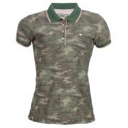 Camisa Polo Seeder Feminina Camuflada Verde