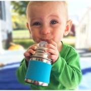 Pura Stainless Steel 5oz/150 ml Infant Nipple Bottles Combo Pack Aqua Green Sleeves by Montyybucks.Inc