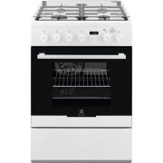 Aragaz mixt Electrolux EKK64982OW, 60 cm, alb, Plus Steam, capac sticla