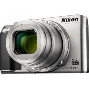 Nikon A-900 Digitale camera 20 Mpix Zoom optisch: 35 x Zilver WiFi, Klapbaar display