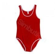 Billig barn baddräkt - Röd (Storlek: L= ca. 128 cl)