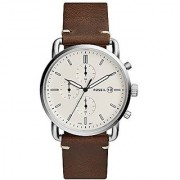 Fossil Analog Off-White Dial Mens Watch-FS5402