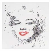 Ölgemälde Marilyn + Menschen, 100% handgemaltes Wandbild Gemälde XL, 100x100cm ~ Variantenangebot